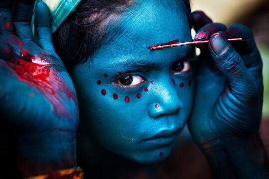 """Boski makijaż"". Tamilnadu, Indie - Mahesh Balasubramanian"