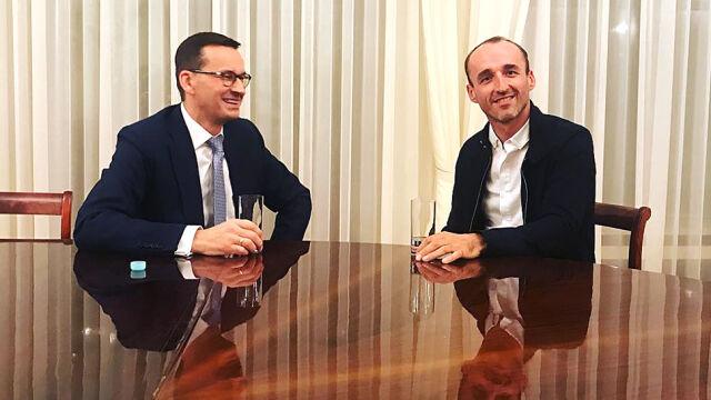 Mazurek: po spotkaniu z Morawieckim Kubica nie żywi urazy