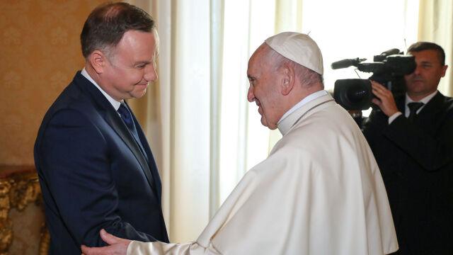 Prezydent spotkał się z papieżem.