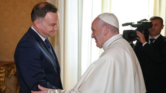 """Prezydent spotkał się z papieżem. """"Rozmawialiśmy o przyszłości Europy"""""""