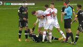 Szarpanina w meczu Stuttgart - Freiburg. Stenzel i Grifo ukarani