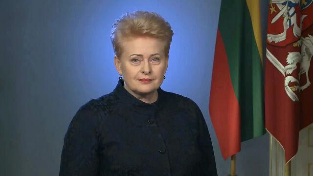 Prezydent Litwy złożyła życzenia Polsce