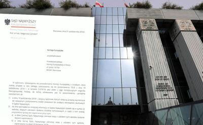 Sąd Najwyższy przesłał pismo do Komisji Europejskiej o zastosowaniu się do decyzji TSUE