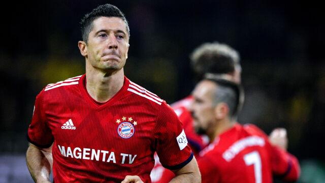 Pięć goli w meczu Borussii z Bayernem, dwa Lewandowskiego. Zobacz wszystkie