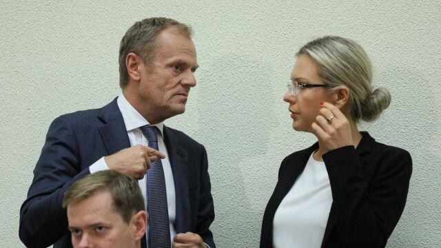 Na osobności Tusk zadał pytanie przewodniczącej Wassermann
