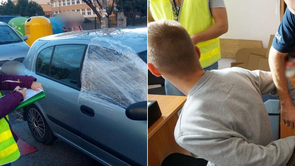 Usłyszał huk. Patrzy przez okno: jego auto bez szyby, ktoś w środku. Wybiegł