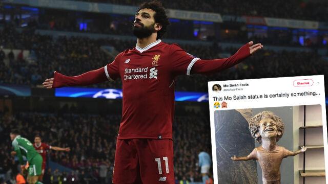 Salah uwieczniony na pomniku. Gorszy od popiersia Ronaldo