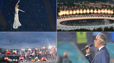 Andrea Bocelli, Bono i fajerwerki nad Rzymem. Tak wyglądała ceremonia otwarcia Euro 2020