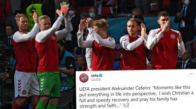Sportowy świat wspiera Eriksena.