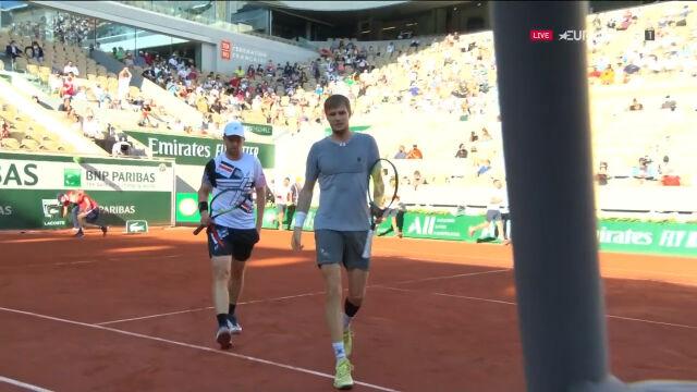 Bublik i Gołubiew wygrali 1. seta finału gry podwójnej we French Open