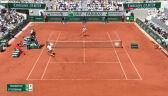 Niesamowita wymiana wygrana przez Tsitsipasa w 9. gemie 1. seta finału French Open
