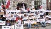 Manifestacja przeciw przejęciu Westerplatte