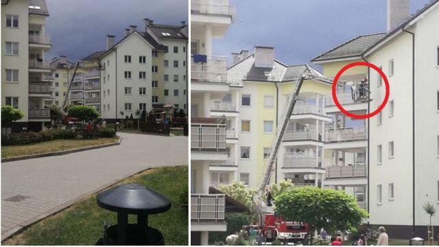 Dwulatek zatrzasnął rodziców na balkonie. Musieli interweniować strażacy