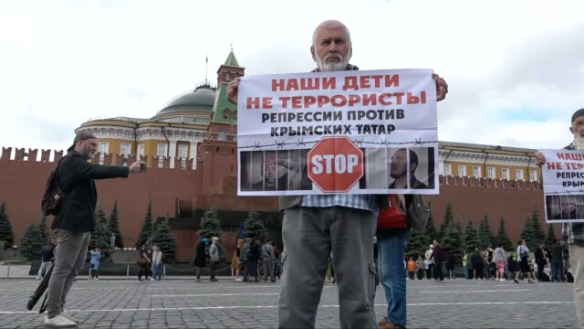 Demonstrowali przeciwko aresztowaniu Tatarów. Dziesiątki zatrzymanych w Moskwie