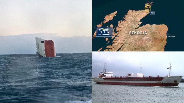 """Zatonął cypryjski statek z polską załogą. """"Na miejscu katastrofy wciąż niekorzystna pogoda"""""""