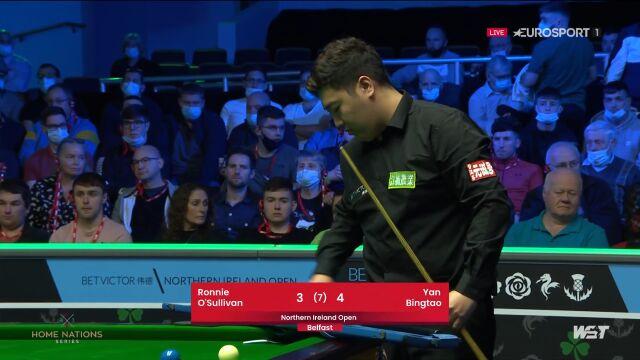 Yan Bingtao pokonał O'Sullivana w 3. rundzie Northern Ireland Open