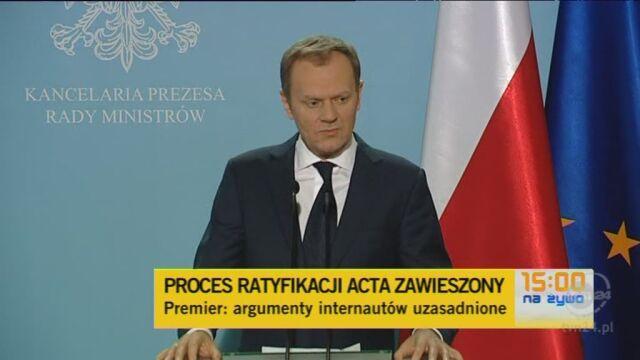 Premier: Polskie prawo jest ostrzejsze niż ACTA (TVN24)