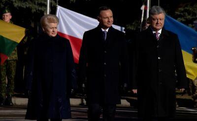 Prezydenci Polski, Litwy i Ukrainy w bazie w Lublinie