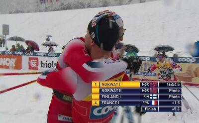 Podwójne zwycięstwo Norwegii w sprincie drużynowym w Planicy