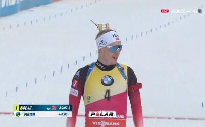 Johannes Boe wygrał bieg pościgowy w Le Grand Bornand