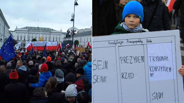 """""""To Warszawa, nie Budapeszt!"""". Przez stolicę przeszło 50 tysięcy manifestantów"""
