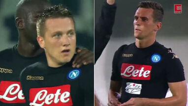 Milik bliski gola, Zieliński karnego, ale sędzia zmienił zdanie. Zobacz ich debiuty w Napoli