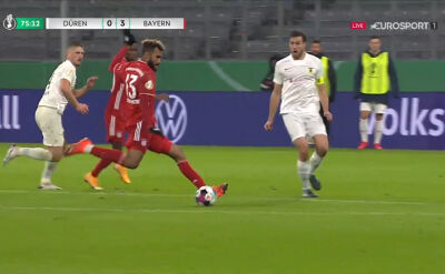Puchar Niemiec. FC Dueren - Bayern Monachium 0:3. Gol Maxim Choupo-Moting