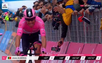 Joao Almeida powiększył prowadzenie w klasyfikacji generalnej po 14. etapie Giro d'Italia