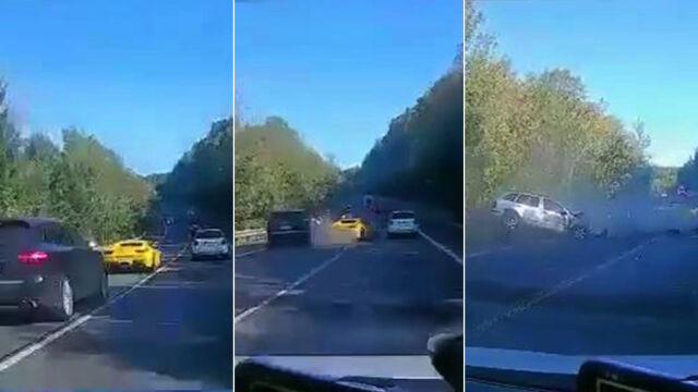 Wypadek z udziałem luksusowych samochodów z Polski