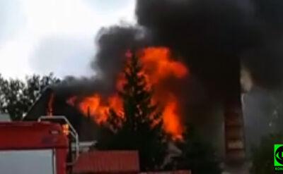 Zawalił się strop, spłonął dach. Pożar starej cegielni
