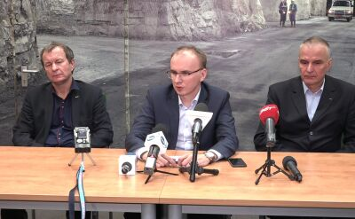 Konferencja prasowa w kopalni Rudna