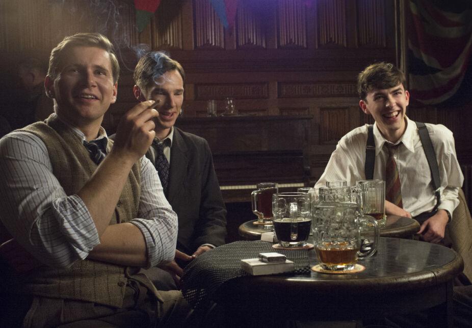 Allen Leech, Benedict Cumberbatch i Matthew Beard