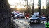 Pościg i zniszczony radiowóz. Uciekinier i policjanci w szpitalu