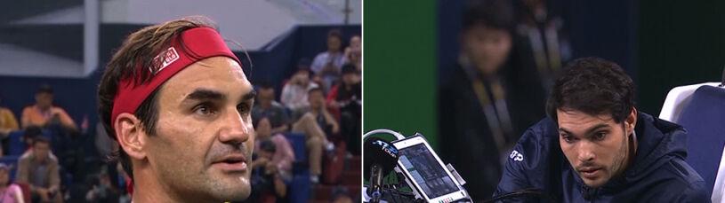 Federer pokłócił się z sędzią i przegrał.