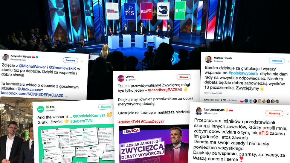 Uczestnicy komentowali przebieg debaty też w rozmowach z dziennikarzami po wyjściu ze studia