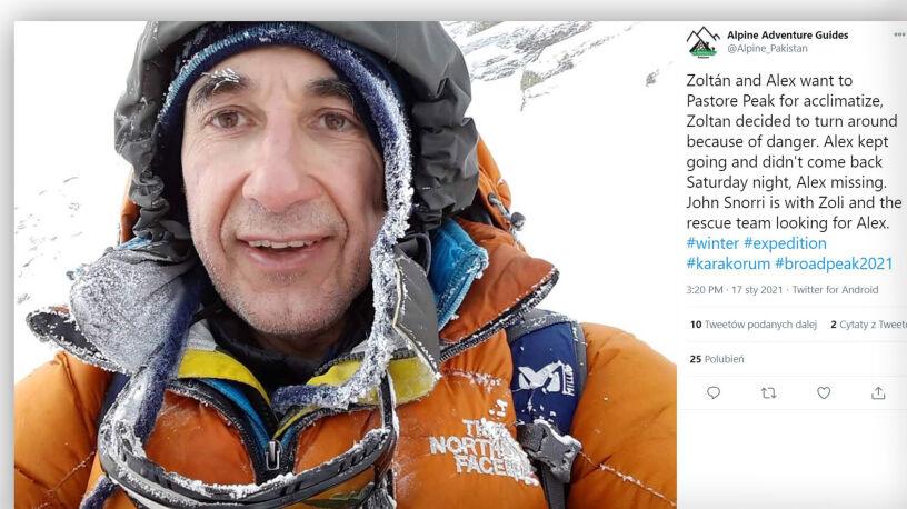 Planował atak szczytowy na Broad Peak, nie daje znaku życia. Akcja w Karakorum