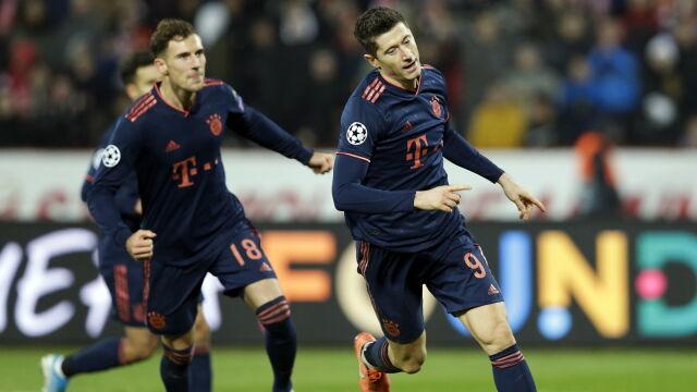 """""""Lewy"""" niczym walec. W kwadrans strzelił cztery gole, Bayern rozniósł Serbów"""