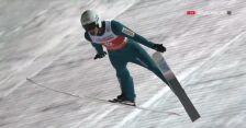 Skok Piotra Żyły z 1. serii sobotniego konkursu w Ruce