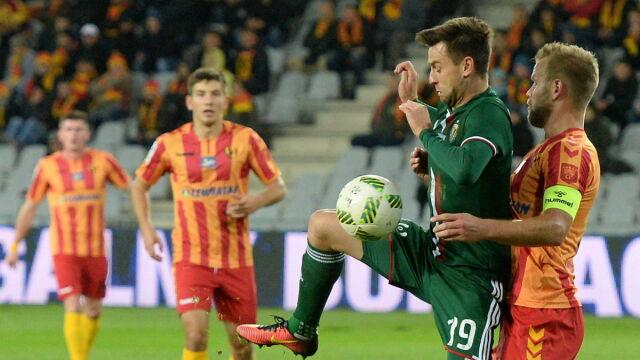 351048e7a W meczu kończącym 12. kolejkę LOTTO Ekstraklasy Śląsk Wrocław wygrał w  Kielcach z Koroną 2:1. Przez większość czasu mecz nie był najlepszym  widowiskiem.