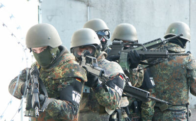 Ćwiczenia niemieckich żołnierzy. Materiał archiwalny