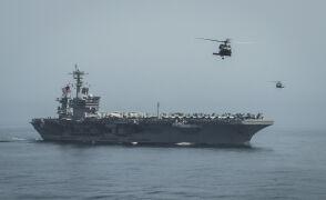 USS Roosevelt u wybrzeży Jemenu (nagranie z 2015 r.)