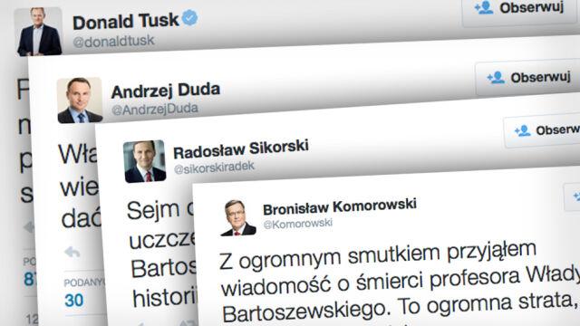 """""""Odszedłwielki Polak"""". Żegnają Władysława Bartoszewskiego"""