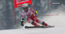 Maryna Gąsienica-Daniel w 2. przejeździe niedzielnego slalomu giganta w Kranjskiej Gorze
