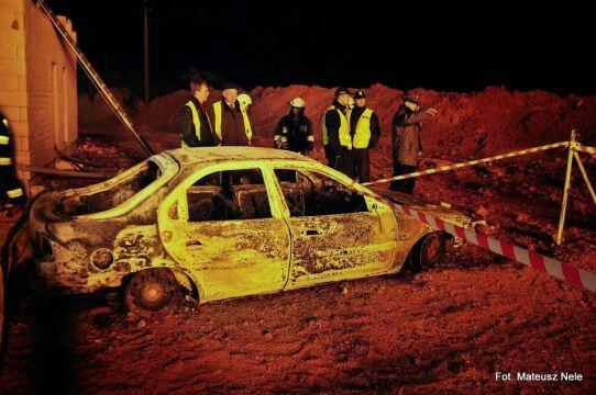 W Jankowie Przygodzkim spłonęło wiele samochodów