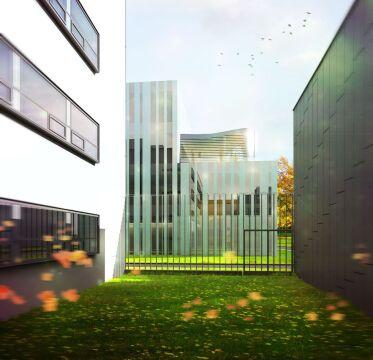 Budynek podzielony zostanie na 3 części