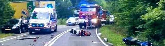 Bracia jechali na motocyklach. Młodszy z nich zginął