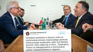 Mosbacher dziękuje Polsce, Pompeo nazywa Czaputowicza