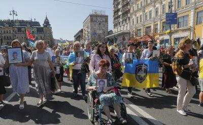 W Dniu Niepodległości ulicami Kijowa przeszedł marsz weteranów