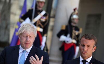 Boris Johnson z wizytą w Pałacu Elizejskim