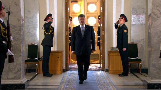 """""""Krym był, jest i będzie ukraiński"""". Pierwsze deklaracje Poroszenki jako prezydenta"""
